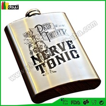 2015 usa popular mini pink leopard hip flask yiyang fashion mini whisky promotional hip whiskey flask painting stainless steel h