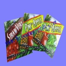 low price food grade pineapple slice pack zipper foil bag with printing