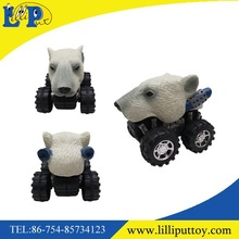 Promotional toy car polar bear animal friction truck for kids high quality