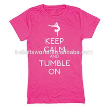 Custom wholesale 50 cotton 50 polyester children girl tshirt