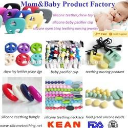 bpa free silicone pendant/silicone beads