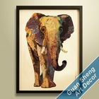 elephant oil painting/ elephant canvas painting/ oil painting canvas of elephant