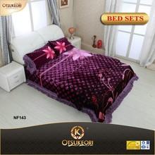 Printed Bedsheets of 100% Polyester Korean bedding sets on sale