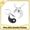 moda esmalte ying yang el mejor amigo de collar
