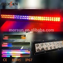 288w led RGB light bar, 50 inch led driving light, white and black housing