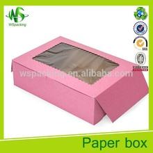 Paper donut box custom biscuit paper box food packaging box
