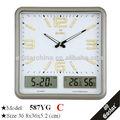 forma cuadrada lcd reloj de pared para artículos de promoción