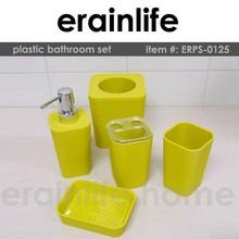 brillare quadrato giallo bella accessori per il bagno di plastica set ikea