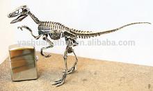 stainless metal dinosaur sculpture,dinosaur bone