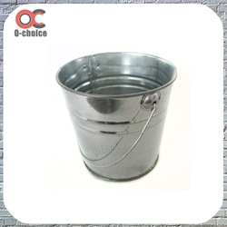 Mini metal shallow flower pot with handle