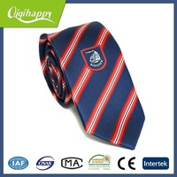 Festival black and red stripe hot sale christmas woven tie for men