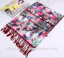 100% Silk scarf Hot-selling High Quality all season silk scarf Van Gogh Artist oil painting brand long silk scarf