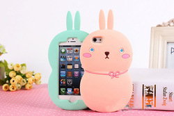 lovely rabbit silicone for phone cases, campus couple