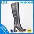 L&c a184-y568 grãos de pedra cadeia de botas mulheres botas de salto alto preto boot