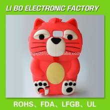 2015 hot selling fashion animal shape silicone mobile phone case