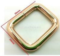 26X19mm Light Gold Iron Retangle Square Ring Bag Handbag Garment Hardware Accessory HOXY Wholesale Factory Seals GS11-ISR2619G