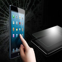 2015 New Arrival Fashion full Transparent tempered glass protector for ipad mini 9h screen protector
