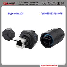 dustproof and waterproof plastic cat5 rj45 female connector