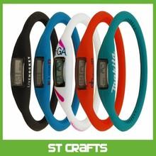 Silicone Rubber Jelly Ion Sports Bracelet Wrist Watch fashion silicone watch