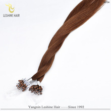 Wholesale 100% human hair virgin remy micro bead hair extensions