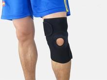 2015 hot sale knee brace support with adjustable straps, elastic knee sleeve support protector, patella knee sleeve
