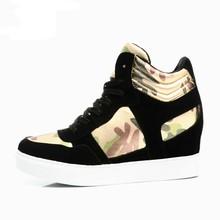 2015 Fashion designer lace slip-on platform women sneaker