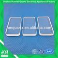 Forme carrée poli plaque de Quartz Type fused Quartz verre mince morceau