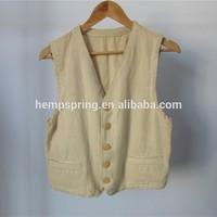 hemp waistcoat, hemp clothing, OEM service