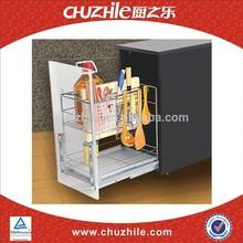 China supplier ChuZhiLe cooking sauce ball bearing slide cabinet basket rack distributor PC-9351