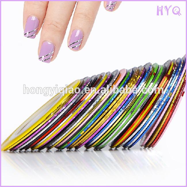 Tape Line Diy Nail Art