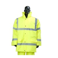 high visibility safety heavy raincoats