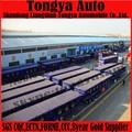 Prix usine 2015 tri- essieu 60 ton 40ft récipient plat remorque de camion/semitrailer/conteneur semi- remorque avec la torsion lock