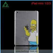 Hard PC Simpson Case For iPad mini 1/2/3, For iPad mini Printed Cartoon Case, For iPad Mini Plastic Case