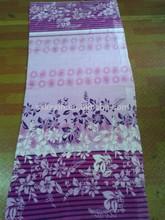 2015 newest purple flower design Flannel fleece blankets,sell well in Pakistan