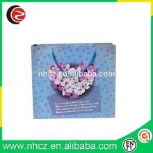 Blue Heart Printed Gift Bag,Craft Paper Gift Bag