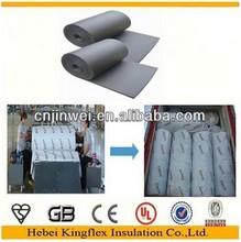 Foam rubber Thick 0.28 inch auto interior insulation roll 21.53sq.ft. sound deadening foam for car