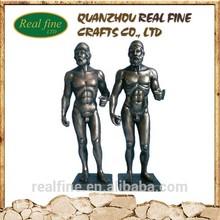 2015 sexy matériau de résine figurines imitation bronze sculpture