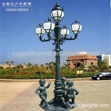 GSB G20 Sand cast aluminum high quality Luxury villa garden lamp post