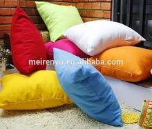 Wholesale manufacturers cotton simple plain cushion pillow
