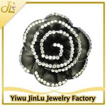 Fashion rhinestone leather flower brooch
