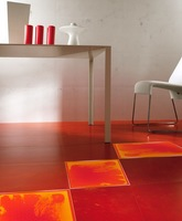 Surfloor interior design eco friendly luxury decorative red vinyl floor tiles