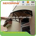 durável fácil montagem impermeável diy policarbonato toldo canopy porta de alumínio frame