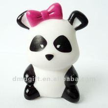 Plastic vinyle panda/plastic animal figure toy
