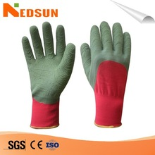 Industrial wavy palm safety rubber coated gloves