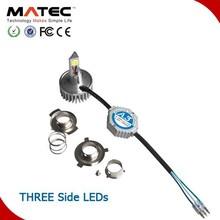 Matec factory hotsale super bright 3 side led chip bajaj pulsar 180 motorcycle headlight