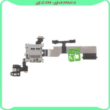 Wholesale price sd card reader contact with flex cable ribbon for htc one m8,for htc one m8 sd card reader holder flex cable