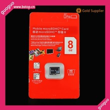 Cheap price mobile scan sd memory card 8GB