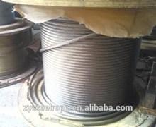 1960 n/mm2 cavetti di acciaio per palestra, 2-42mm ungalvanized fune di acciaio zincato