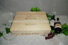 five pcs wooden wine box