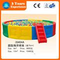 atacado crianças colorido interior redonda de plástico bola de bilhar com escada 20404a